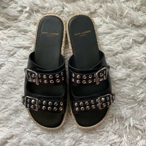 Authentic Saint Laurent Espadrilles studded sandal